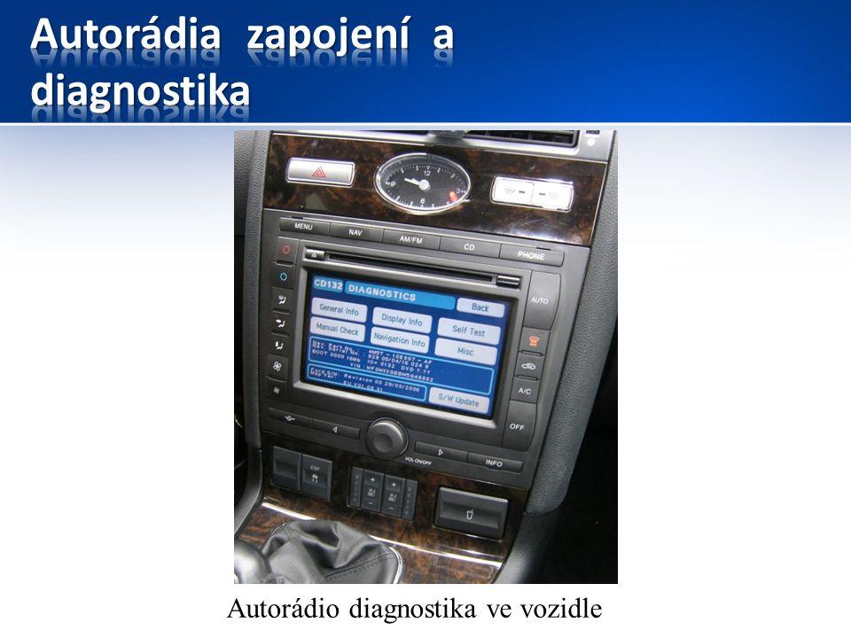 Autorádio diagnostika ve vozidle