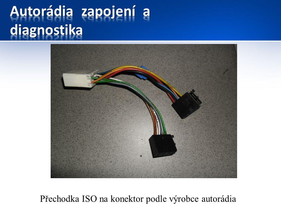Přechodka ISO na konektor podle výrobce autorádia