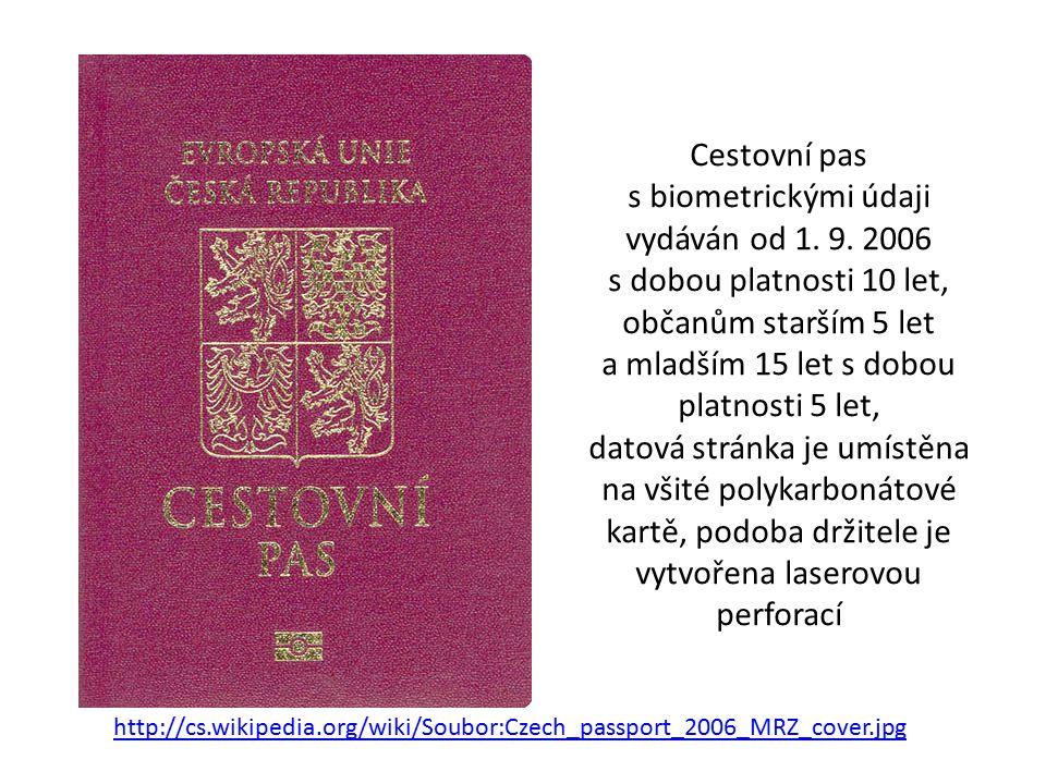 Cestovní pas s biometrickými údaji vydáván od 1. 9.