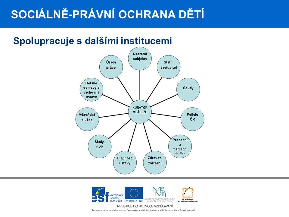 SOCIÁLNĚ-PRÁVNÍ OCHRANA DĚTÍ Spolupracuje s dalšími institucemi