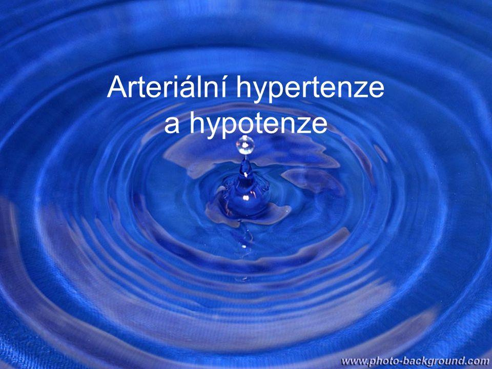 Arteriální hypertenze a hypotenze
