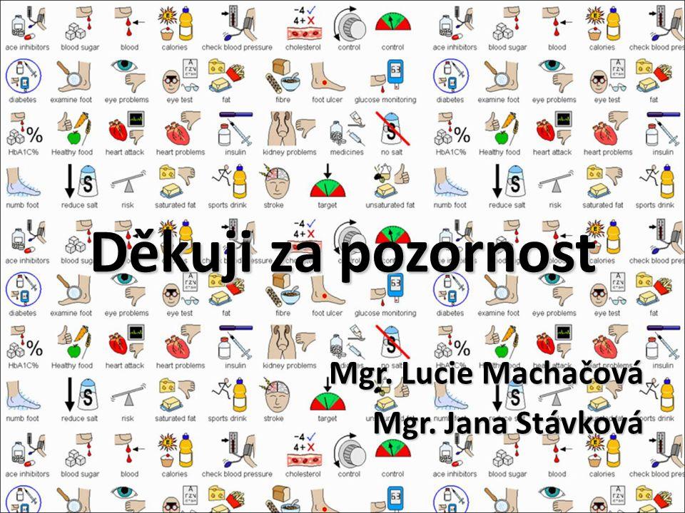 Děkuji za pozornost Mgr. Lucie Machačová Mgr. Jana Stávková