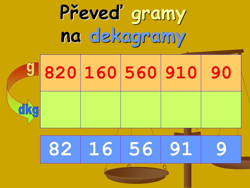 Převeď gramy na dekagramy 82016056091090 821656919