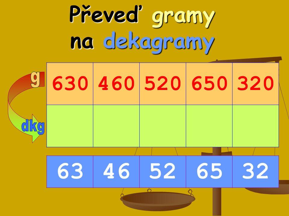 Převeď gramy na dekagramy 630460520650320 6346526532