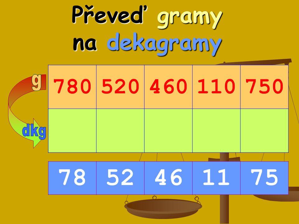 Převeď gramy na dekagramy 780520460110750 7852461175