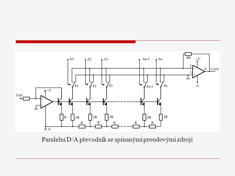 Paralelní D/A převodník se spínanými proudovými zdroji
