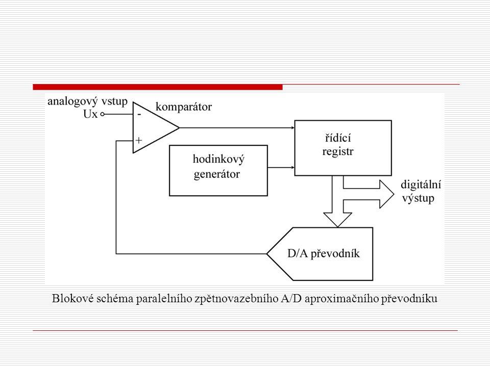 Blokové schéma paralelního zpětnovazebního A/D aproximačního převodníku