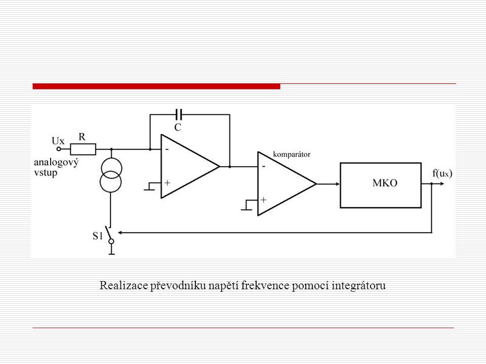 Realizace převodníku napětí frekvence pomocí integrátoru