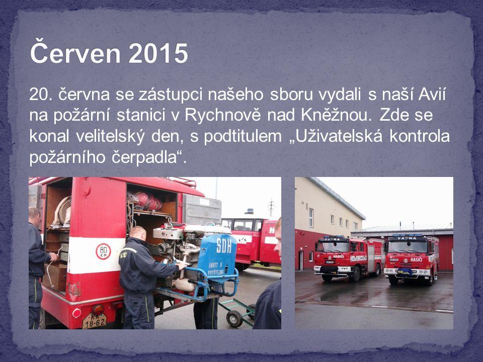 20. června se zástupci našeho sboru vydali s naší Avií na požární stanici v Rychnově nad Kněžnou.