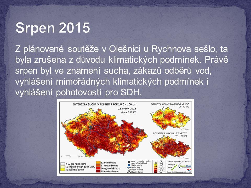 Z plánované soutěže v Olešnici u Rychnova sešlo, ta byla zrušena z důvodu klimatických podmínek.