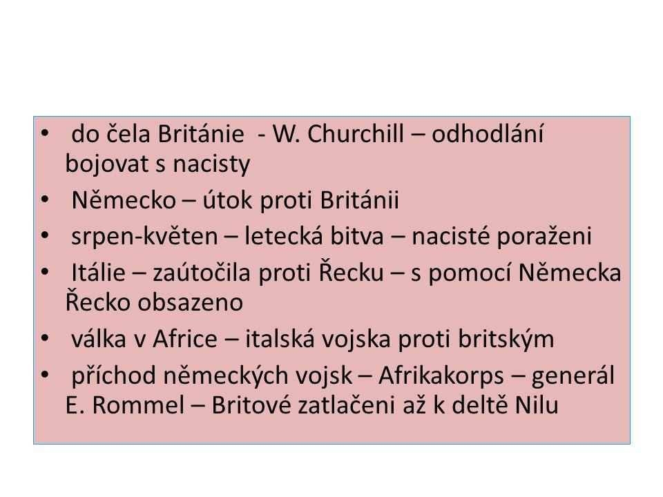 do čela Británie - W.