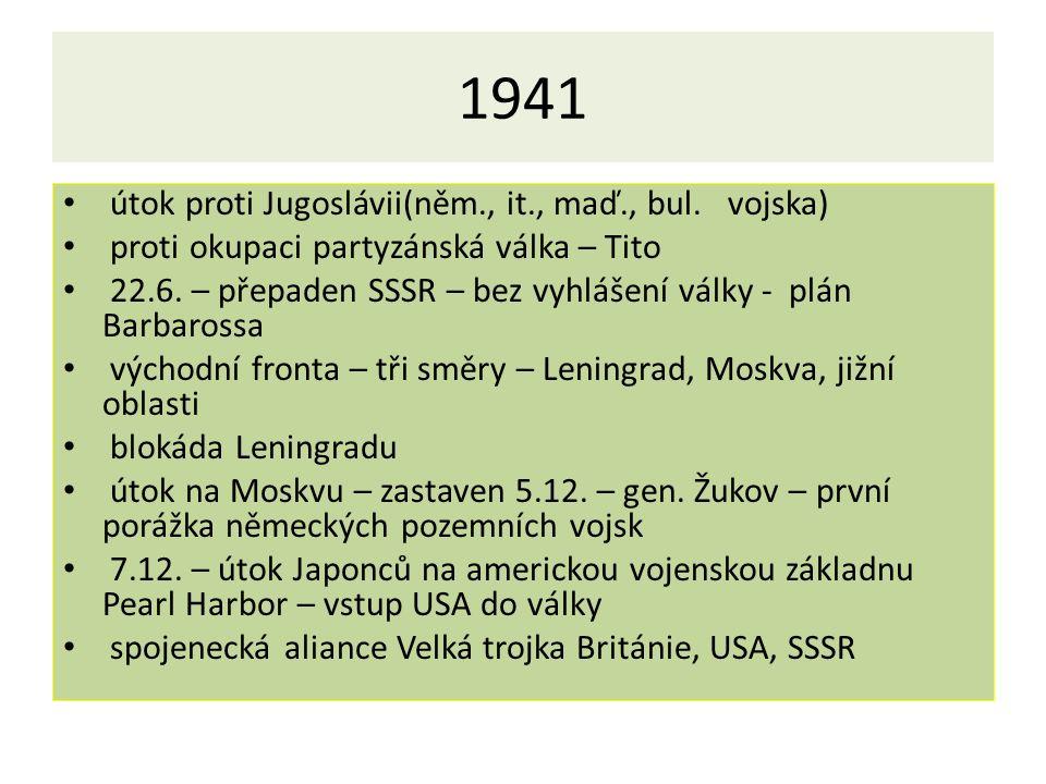 1941 útok proti Jugoslávii(něm., it., maď., bul.
