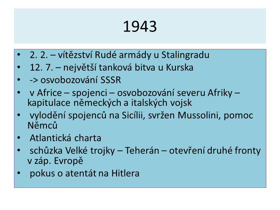 1943 2. 2. – vítězství Rudé armády u Stalingradu 12.