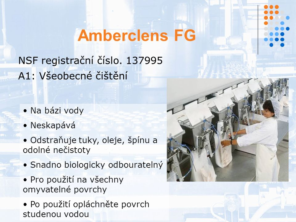 Amberclens FG NSF registrační číslo.
