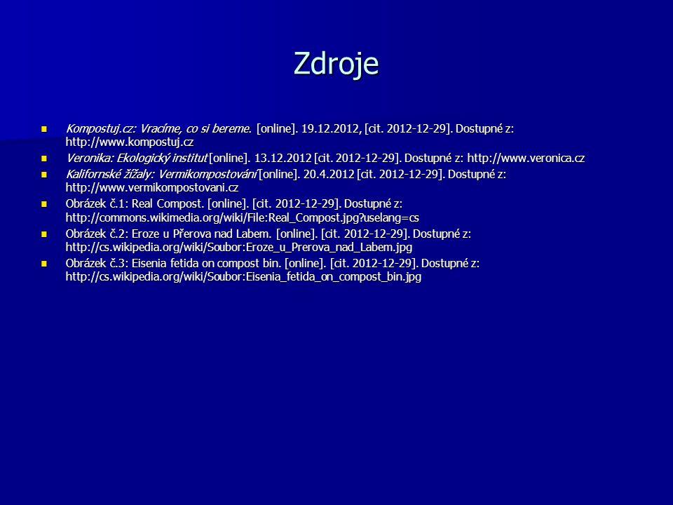 Zdroje Kompostuj.cz: Vracíme, co si bereme. [online].