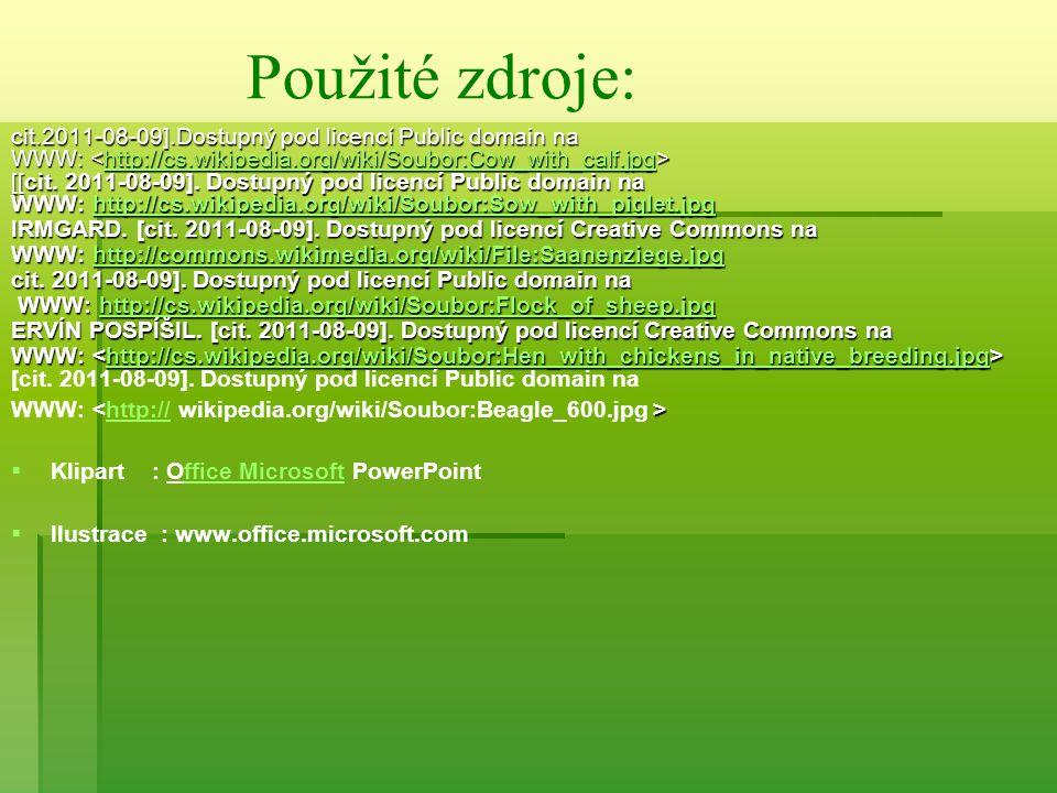 cit.2011-08-09].Dostupný pod licencí Public domain na WWW: WWW: http://cs.wikipedia.org/wiki/Soubor:Cow_with_calf.jpg [[cit. 2011-08-09]. Dostupný pod