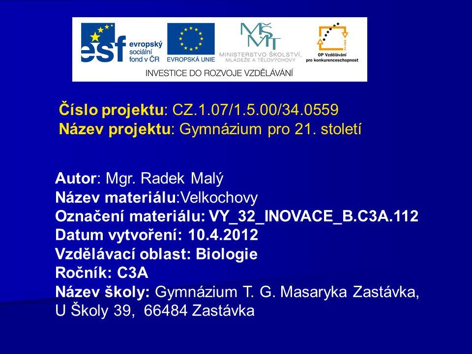 Číslo projektu: CZ.1.07/1.5.00/34.0559 Název projektu: Gymnázium pro 21.