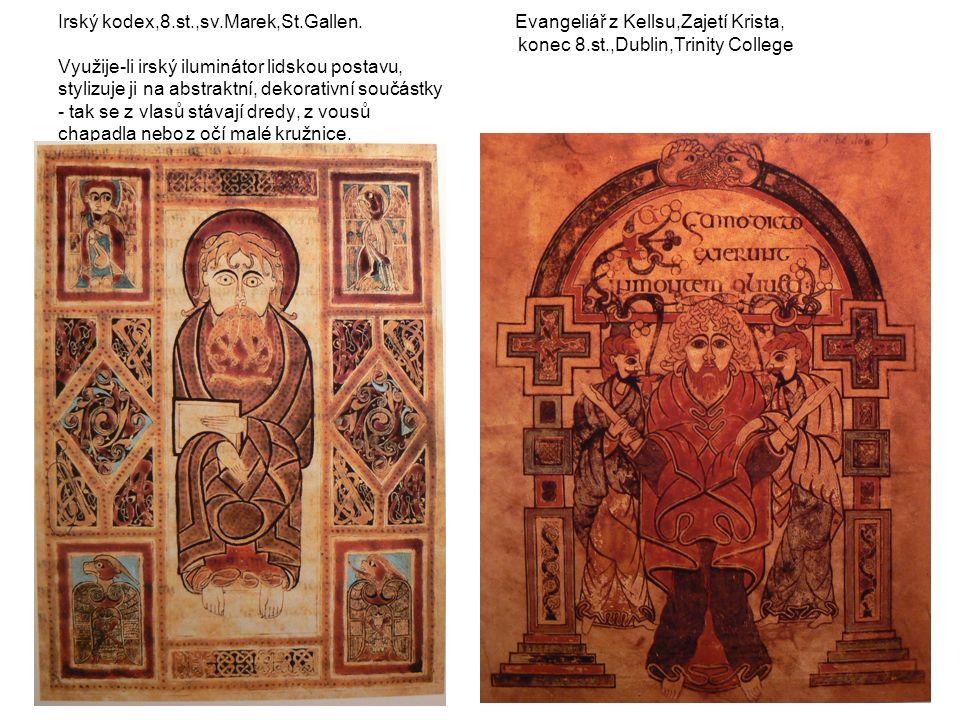 Irský kodex,8.st.,sv.Marek,St.Gallen.