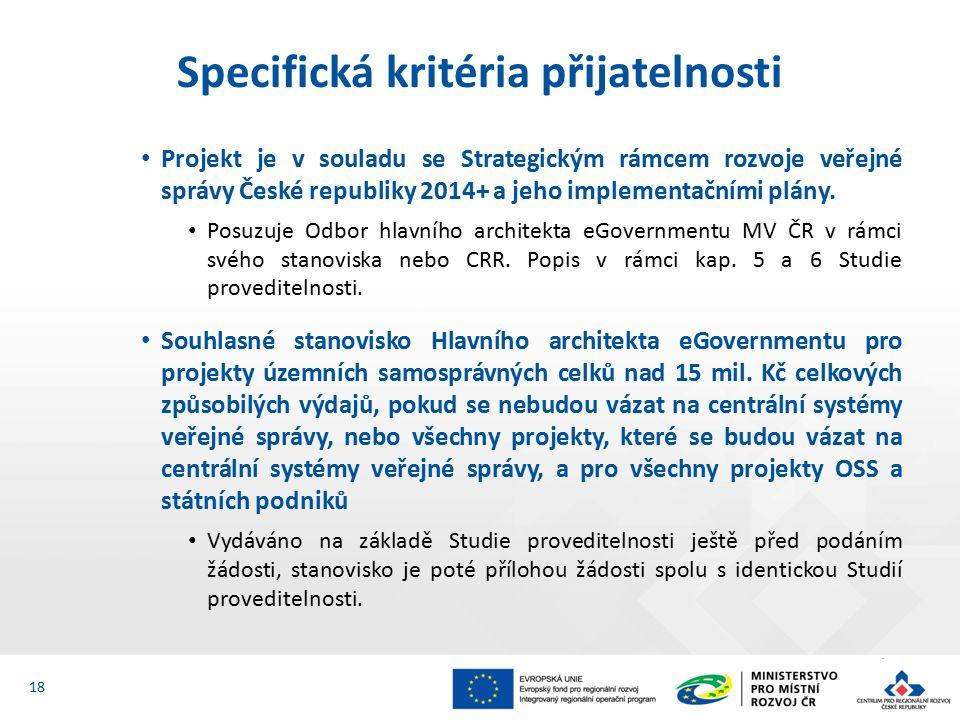Projekt je v souladu se Strategickým rámcem rozvoje veřejné správy České republiky 2014+ a jeho implementačními plány.