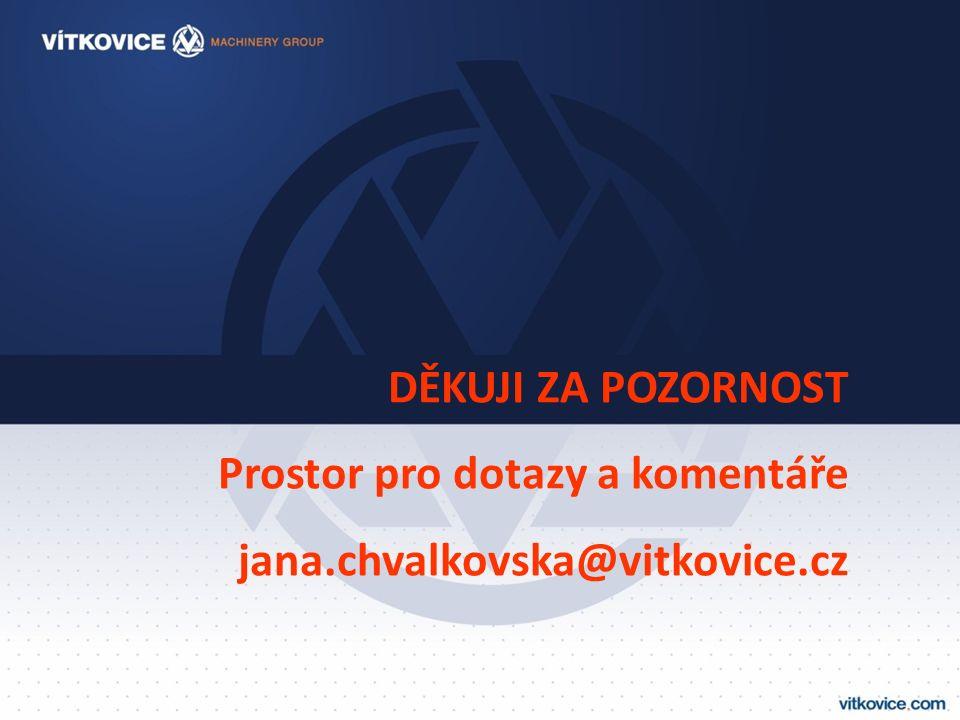 DĚKUJI ZA POZORNOST Prostor pro dotazy a komentáře jana.chvalkovska@vitkovice.cz