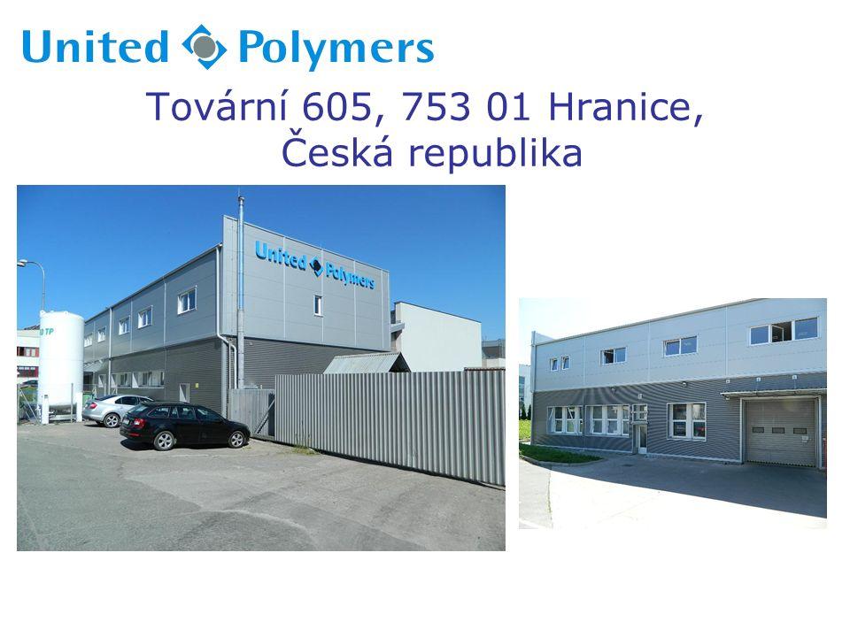 Tovární 605, 753 01 Hranice, Czech republic (závod je umístěn 3km od D1, exit č.