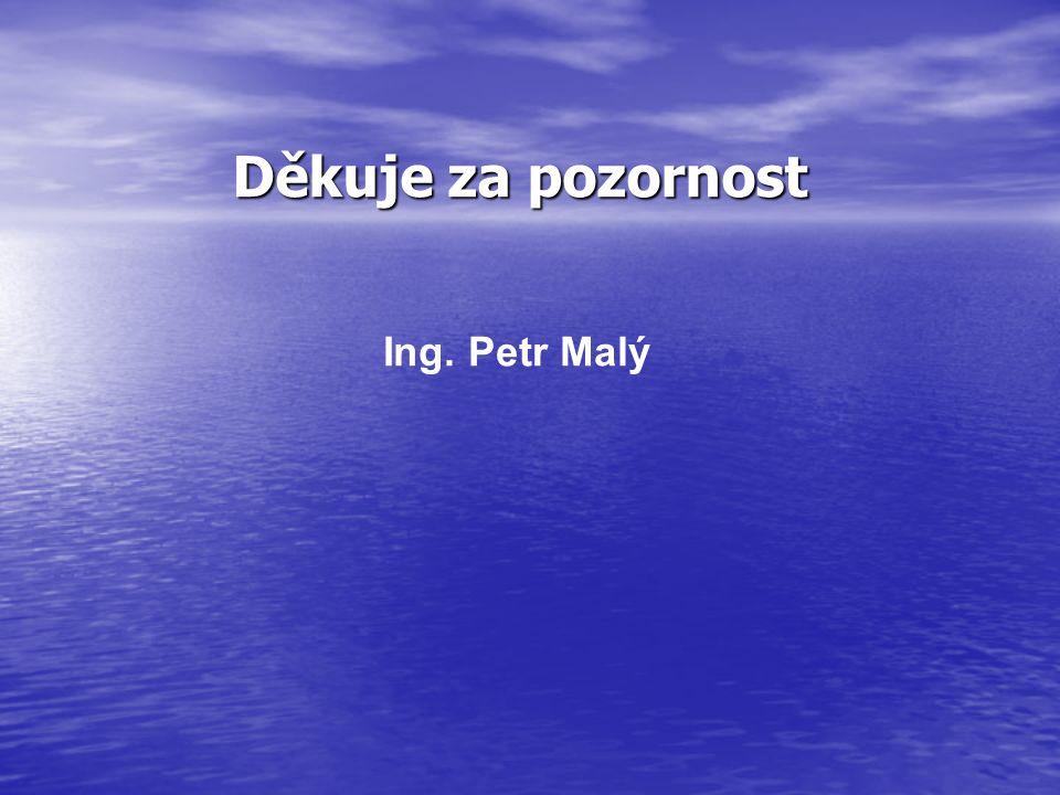 Děkuje za pozornost Ing. Petr Malý