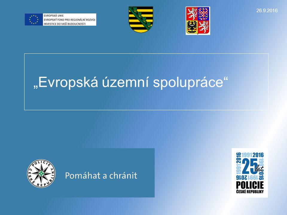 """26.9.2016 """"Evropská územní spolupráce"""""""