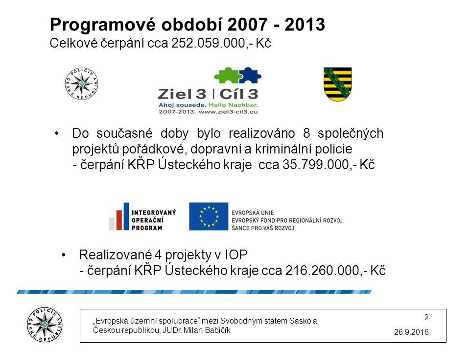 Realizace projektů Ziel 3 / Cíl 3 Prezentace I.