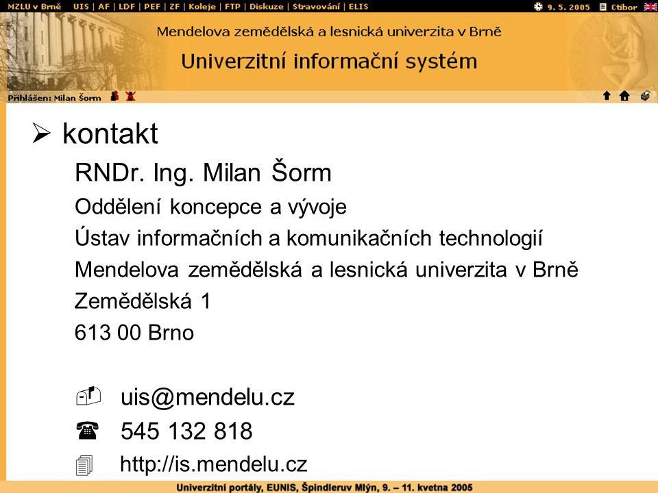  kontakt RNDr. Ing.