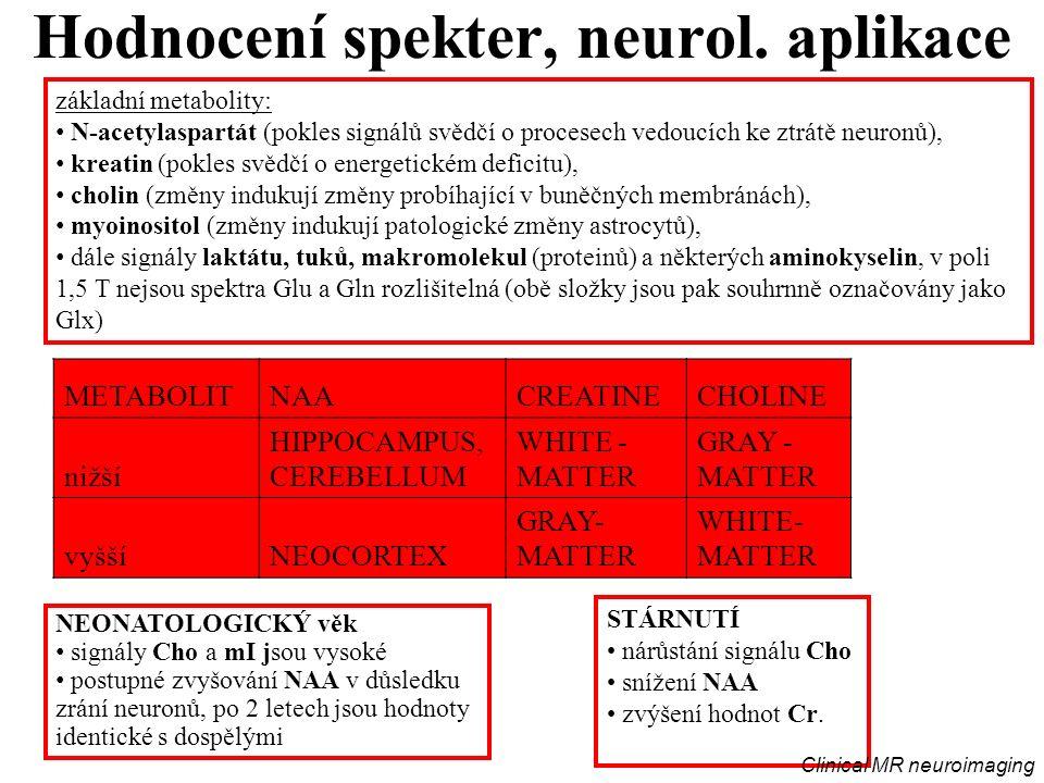 Hodnocení spekter, neurol.