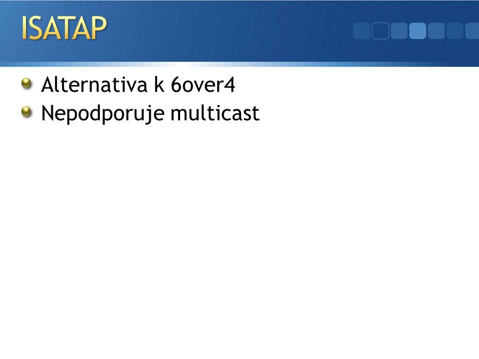 Alternativa k 6over4 Nepodporuje multicast