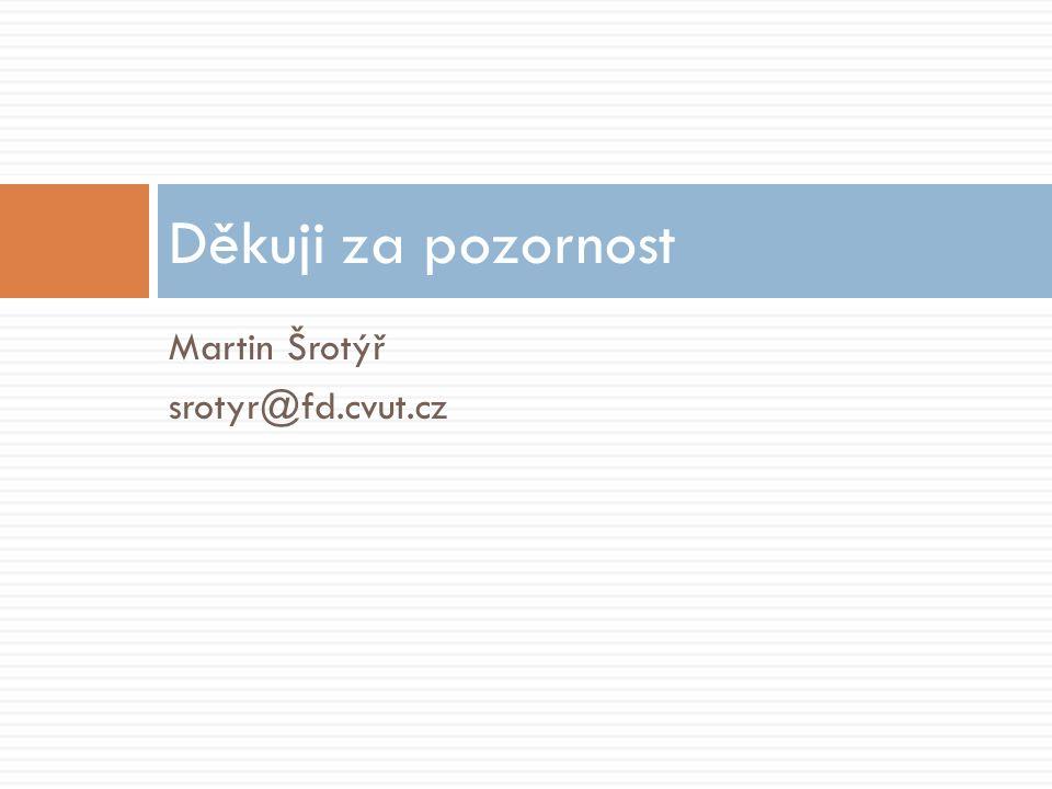Martin Šrotýř srotyr@fd.cvut.cz Děkuji za pozornost