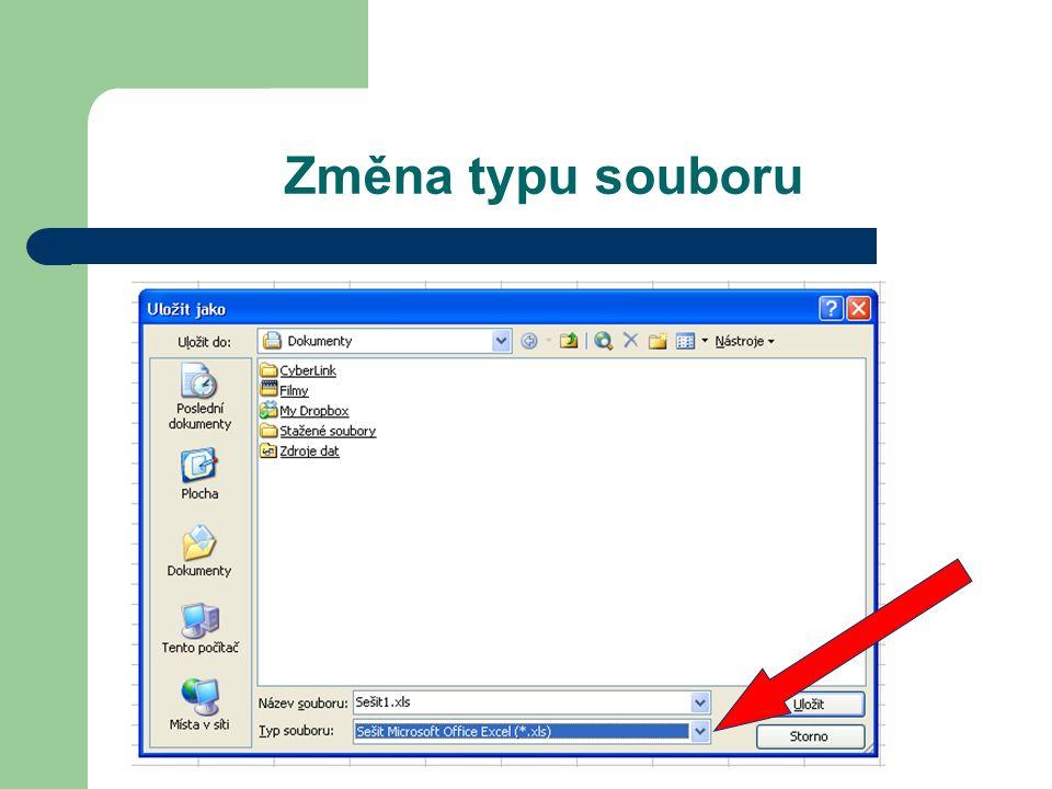 Změna typu souboru