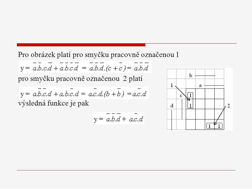 Pro obrázek platí pro smyčku pracovně označenou 1 pro smyčku pracovně označenou 2 platí výsledná funkce je pak