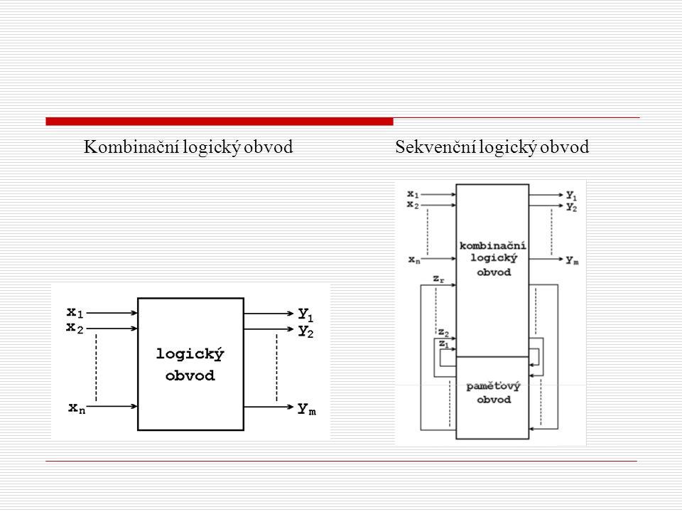 sekvenční logické obvody realizují sekvenční logické funkce, tj.