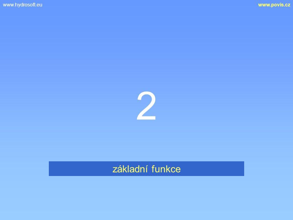 www.hydrosoft.euwww.povis.cz 2 základní funkce