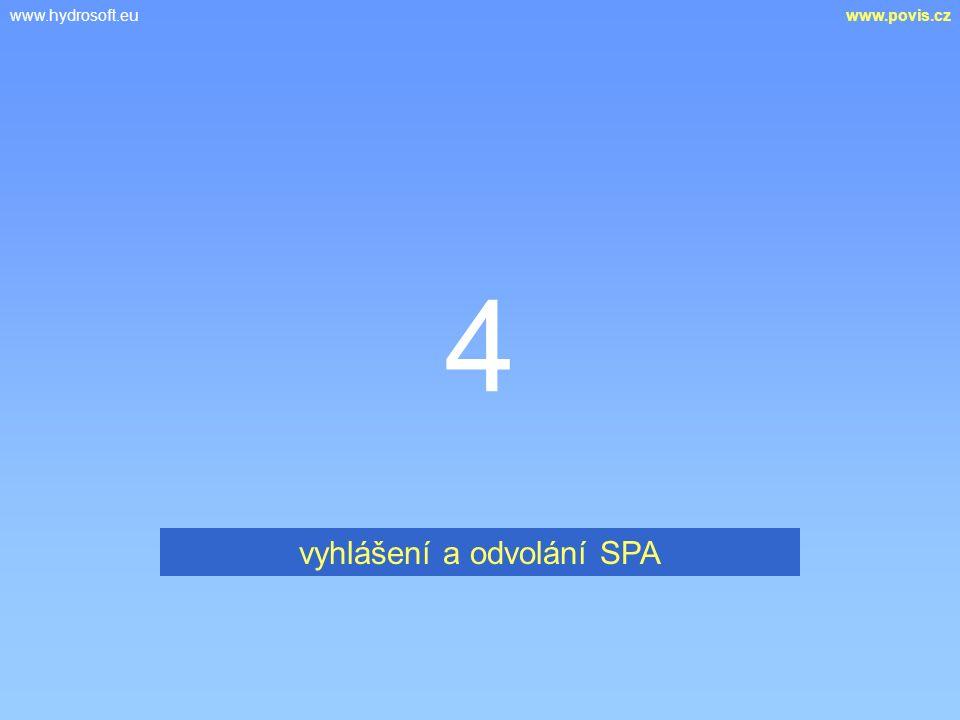 www.hydrosoft.euwww.povis.cz 4 vyhlášení a odvolání SPA