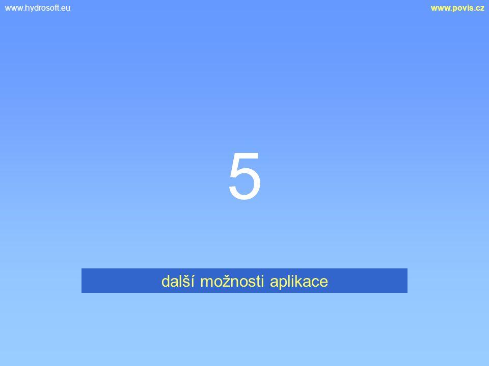 www.hydrosoft.euwww.povis.cz 5 další možnosti aplikace