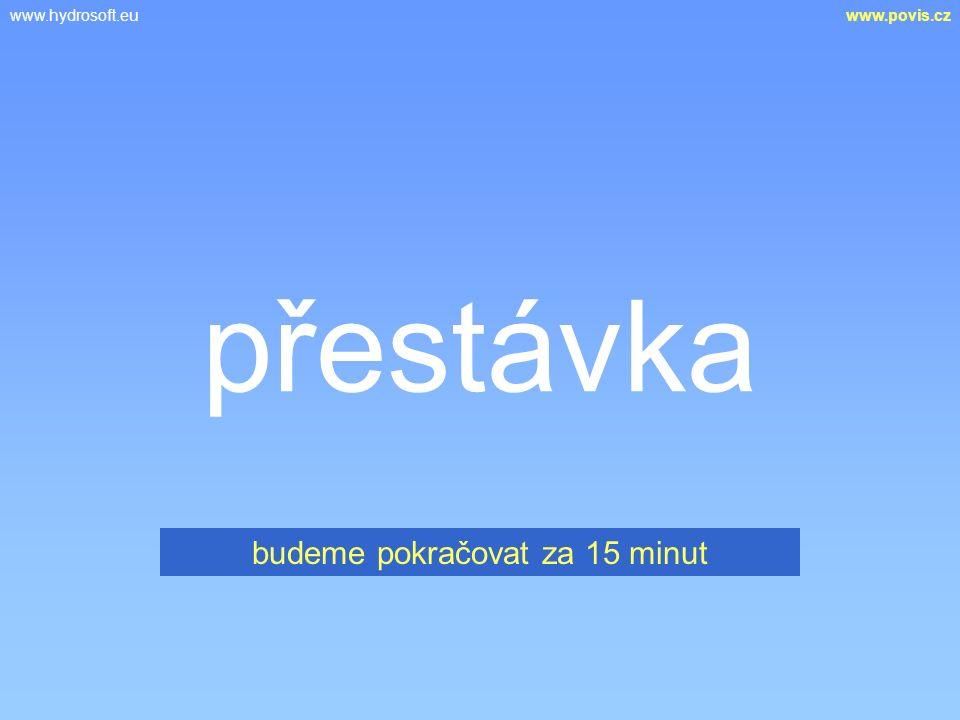 www.hydrosoft.euwww.povis.cz přestávka budeme pokračovat za 15 minut
