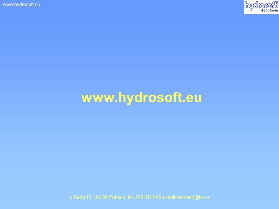 www.hydrosoft.euwww.povis.cz U Sadu 13, 162 00 Praha 6, tel. 220 611 045 e-mail: banseth@hv.cz www.hydrosoft.eu
