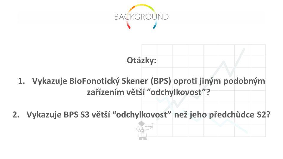 1.Vykazuje BioFonotický Skener (BPS) oproti jiným podobným zařízením větší odchylkovost .