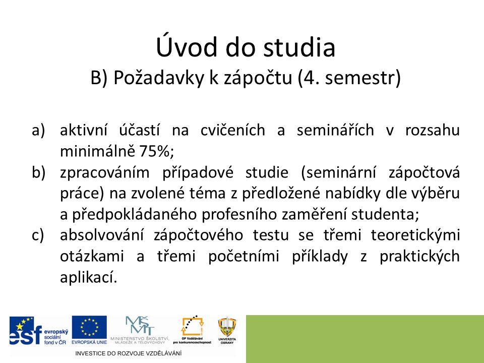 Úvod do studia C) Témata pro seminární práci (4.