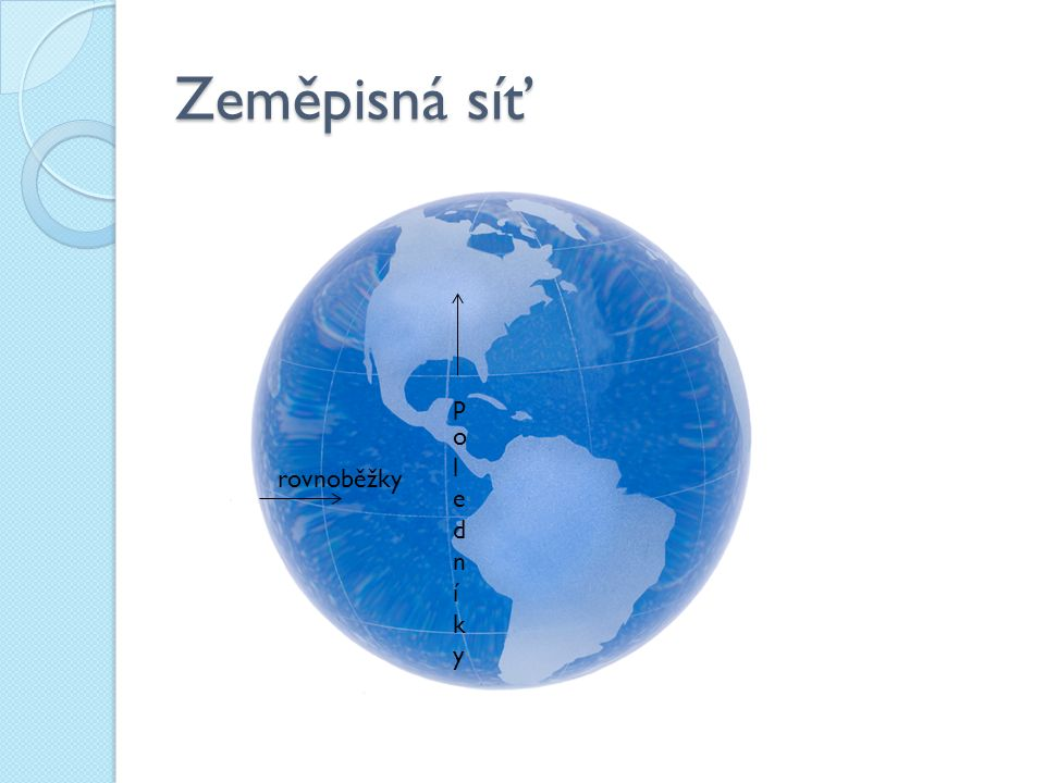 Určování souřadnic Vyhledej rovnoběžku ( zeměpisnou šířku) a poledník ( zeměpisnou délku) procházející zadaným bodem A ( 25°s.š., 3°v.d.) A 3°v.d.