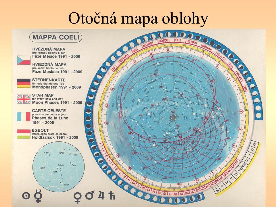 Otočná mapa oblohy