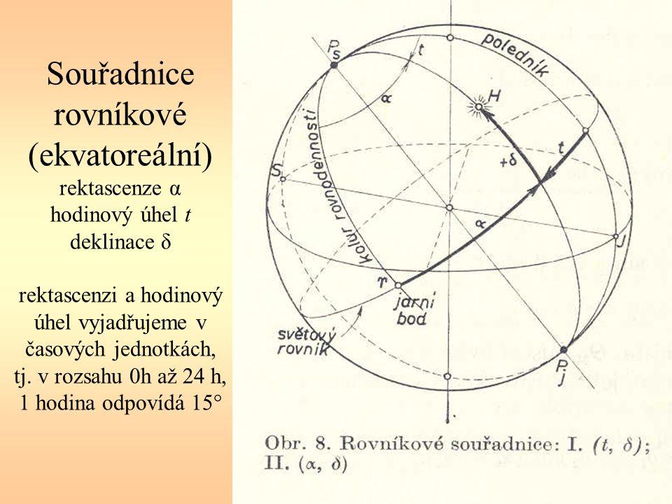 Paralaxa – měření vzdálenosti pomocí roční paralaxy π můžeme určit vzdálenost hvězd čím je menší paralaxa, tím je objekt vzdálenější 1 parsek (pc) je vzdálenost, pod kterou bychom viděli poloosu zemské dráhy (1 AU) pod úhlem 1 Platí jednoduchý vztah: r = 1 / π, kde r je v parsecích a π v obloukových vteřinách Všechny hvězdy mají π 1 pc)