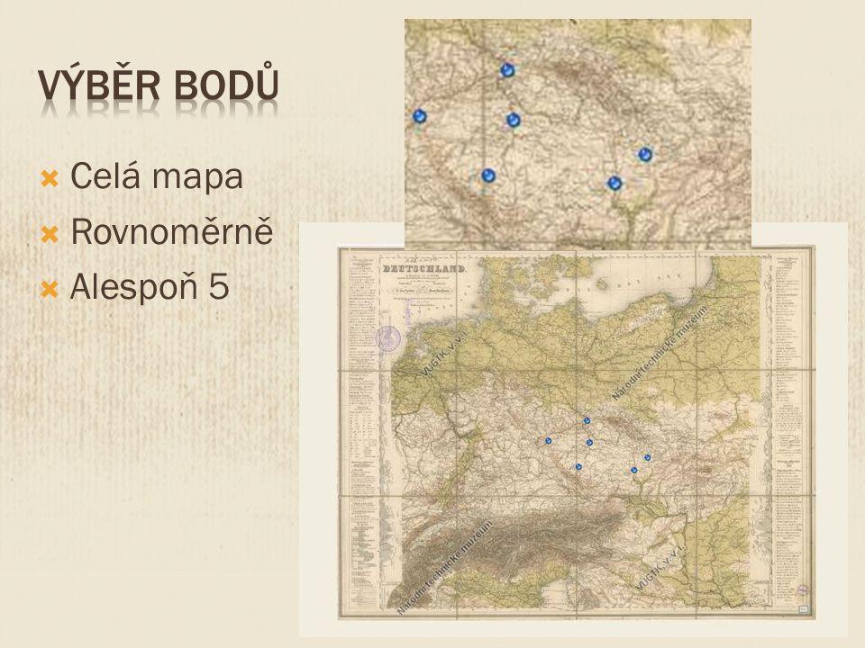  Celá mapa  Rovnoměrně  Alespoň 5