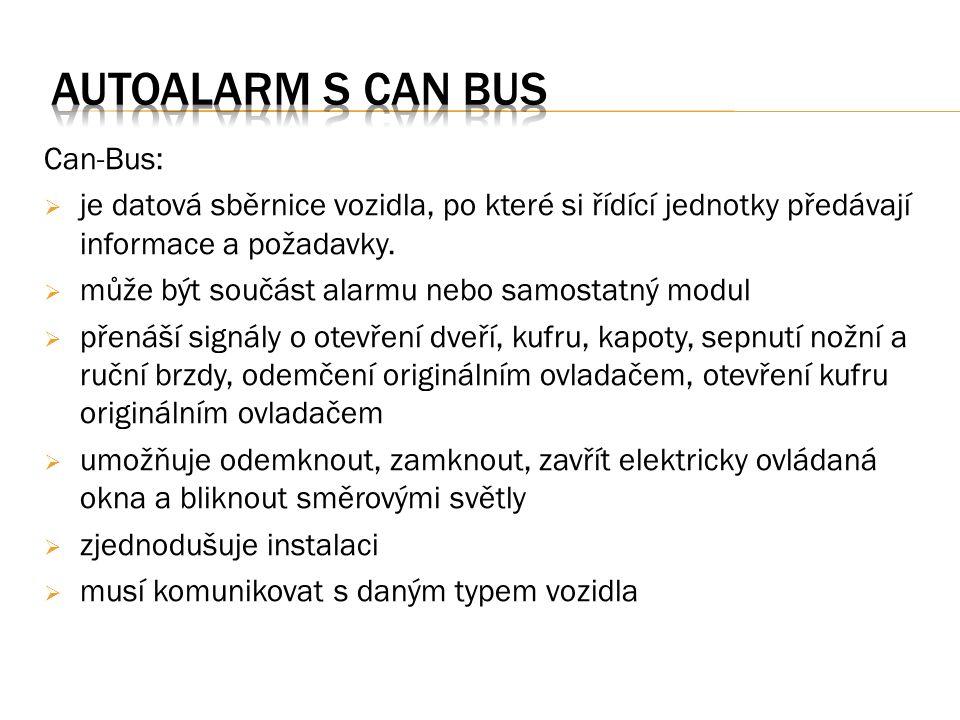 Obr. 1. autoalarm s Can-bus