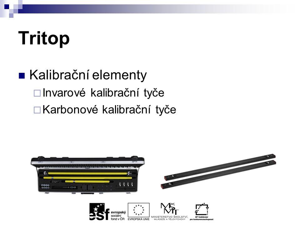 Tritop Kalibrační elementy  Invarové kalibrační tyče  Karbonové kalibrační tyče