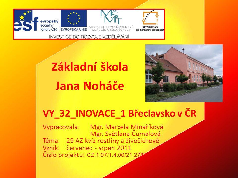 """Anotace Kvíz s otázkami na téma """"Rostliny a živočichové v oblasti Břeclavska ."""