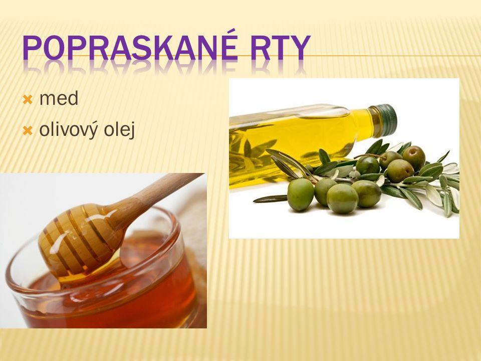  med  olivový olej